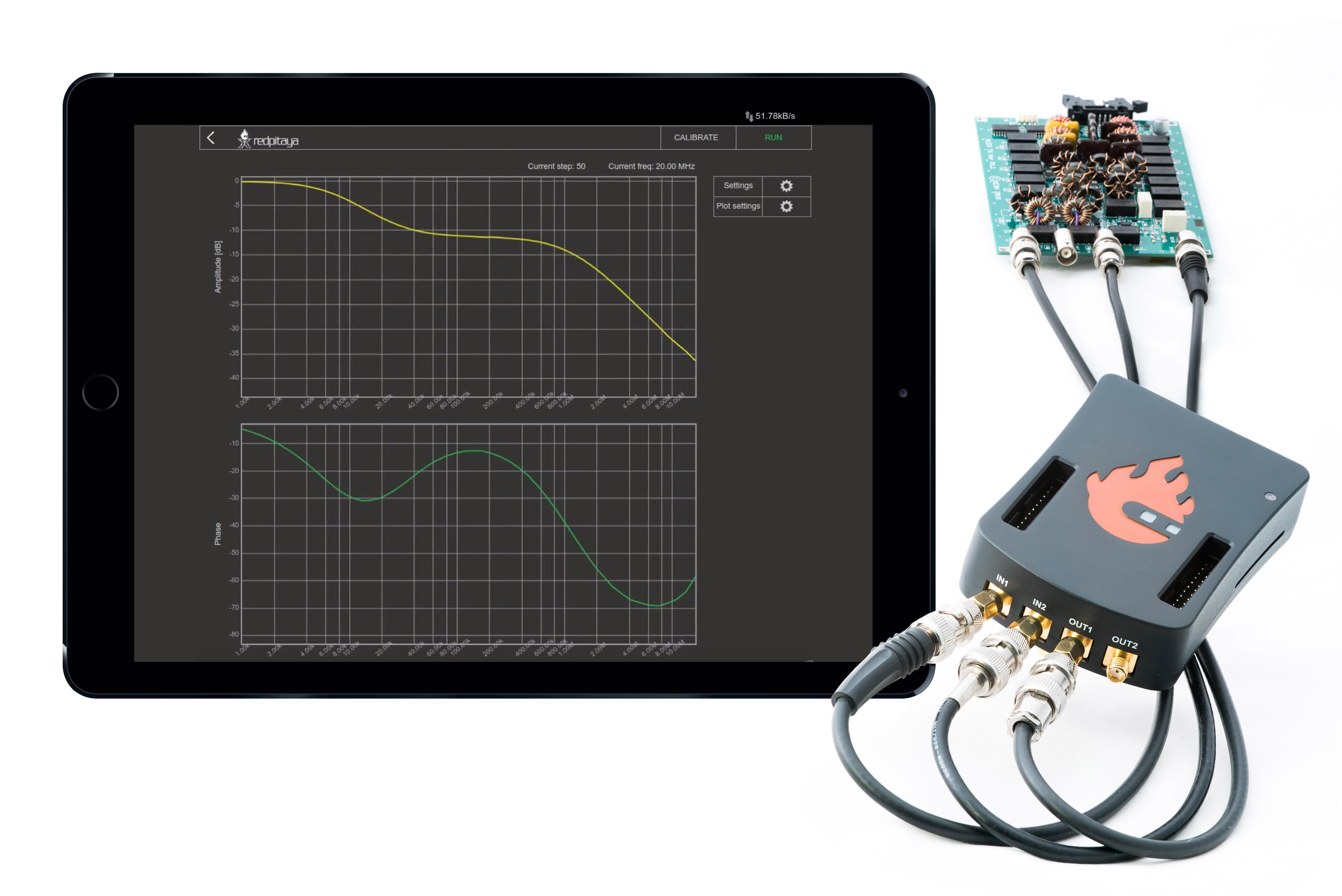 Bode Analyzer Connections : Bode analyzer — red pitaya stemlab documentation