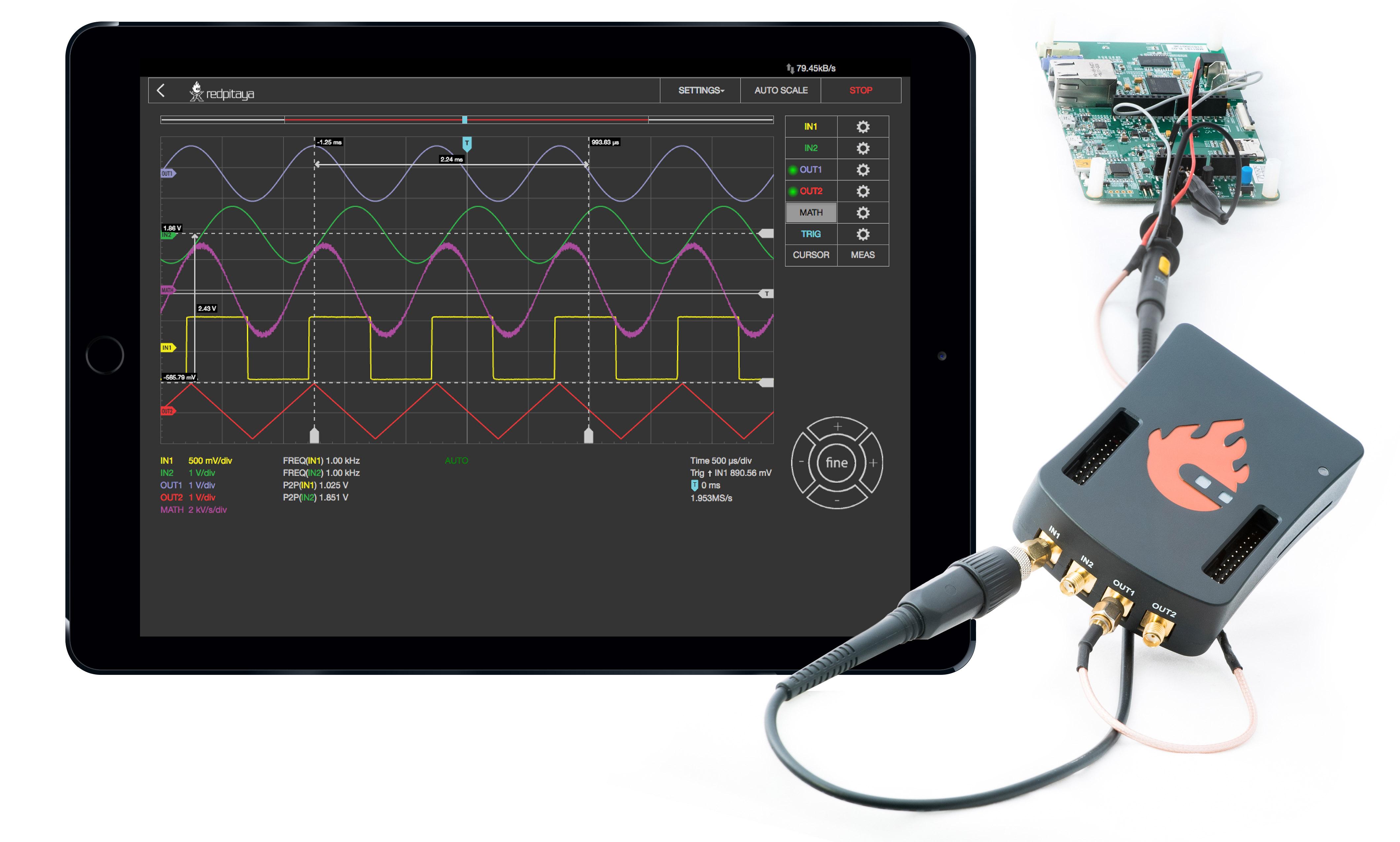 2 1 1 Oscilloscope Amp Signal Generator Red Pitaya